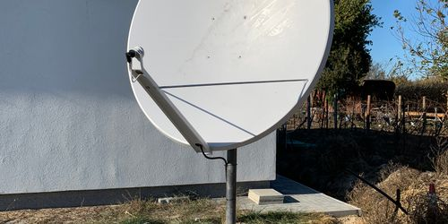 2 méteres parabola antenna szerelése Siófokon