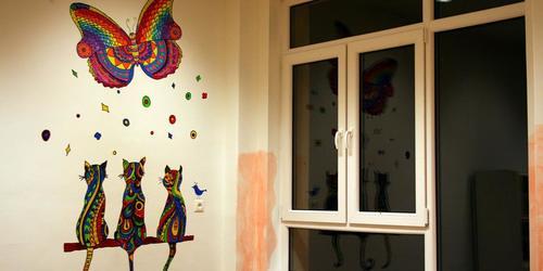 Relaxszációs kifestő falon