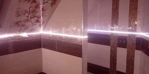 Csempébe ledes világítás