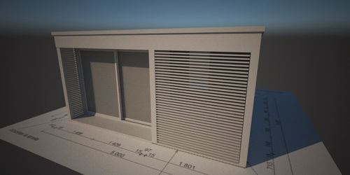 Épület látványtervezés műszaki rajz alapján