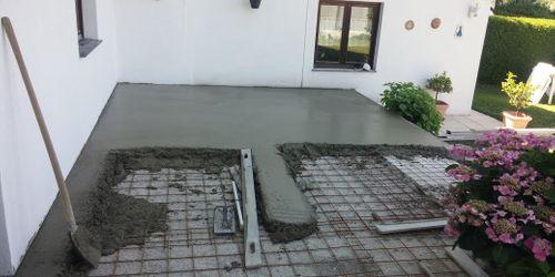 terasz betonozás