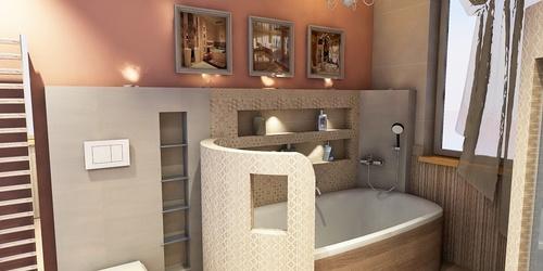 Újpesti sorház szülői fürdőszobája