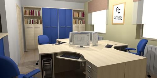 Irodaház nagy irodája