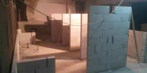 Aszód Javító Intézet vizes blokk kialakítás