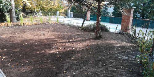Földcsere és fűmagvetés