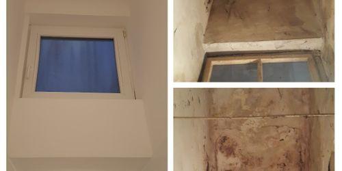 Nyílászáró csere és erősenbeázott fal helyreállítás