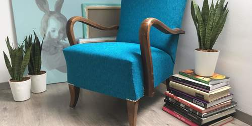 Art Deco fotel felújítása