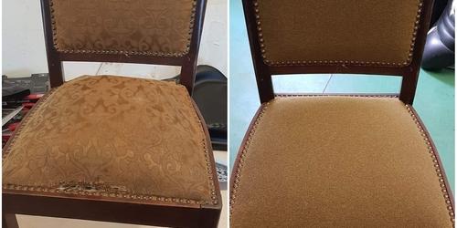 Régi székek átkárpitozása