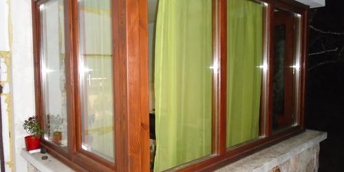 Három oldalú ablak, hőszigetelt, borovi fenyő