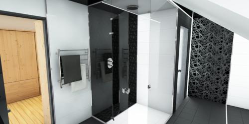 Fürdőszoba belső látványterv