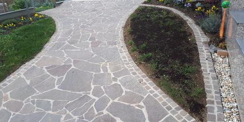 Profil kő beton ágyban Ausztria