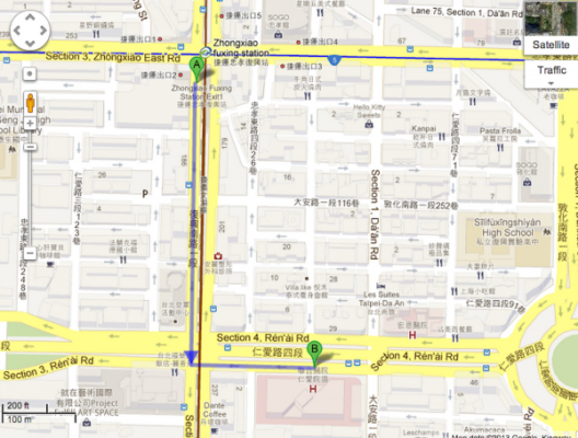 Walking Directions to Renai Hospital
