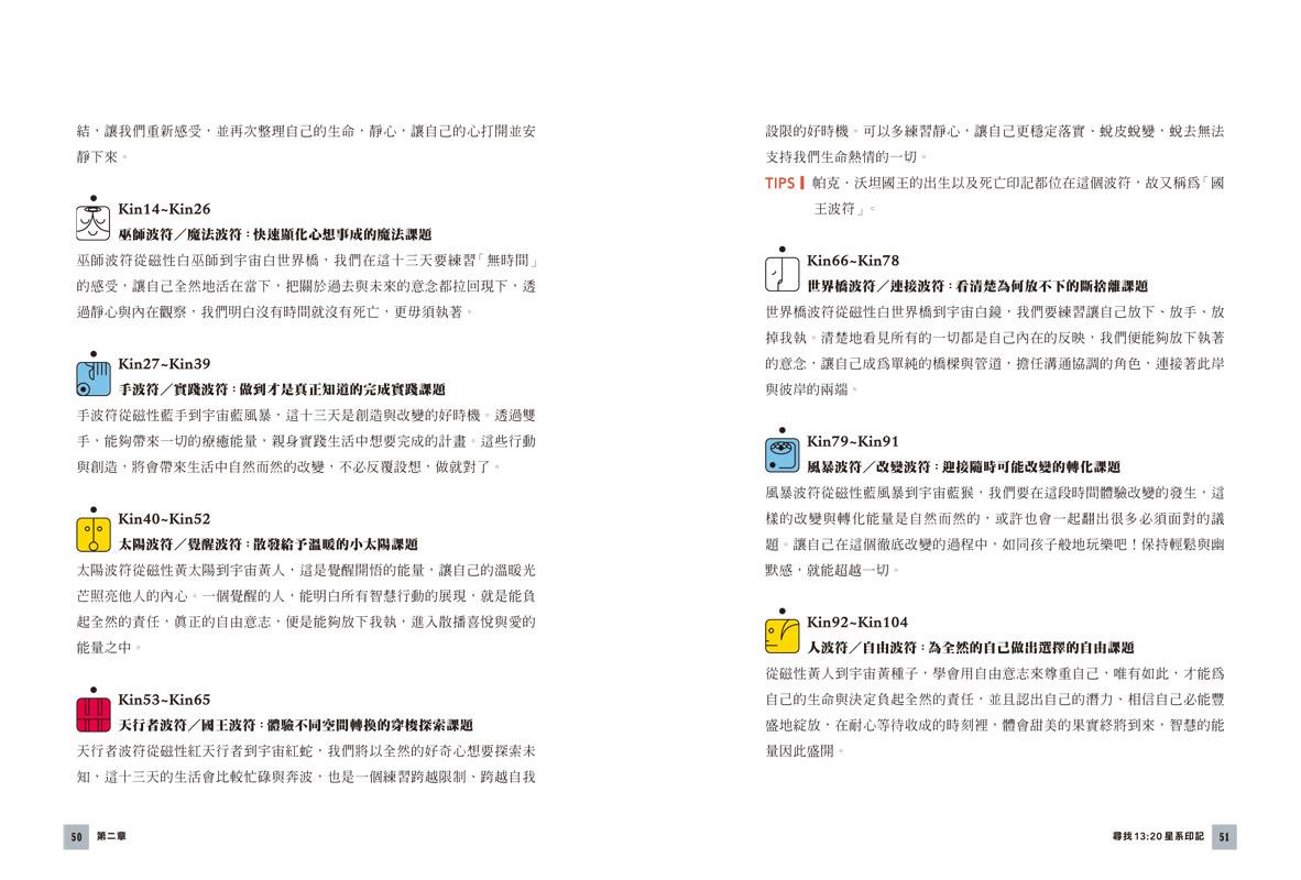 星際馬雅十三月亮曆:13調性×20圖騰-08
