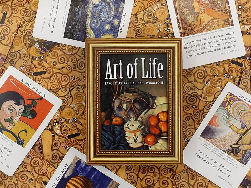 牌卡測驗|藝術生活塔羅:呈現舉世聞名的繪畫作品,伴隨著充滿智慧的名言錦句。