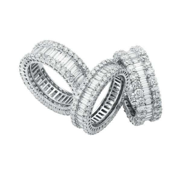 Diamond Group Baguette Ringe
