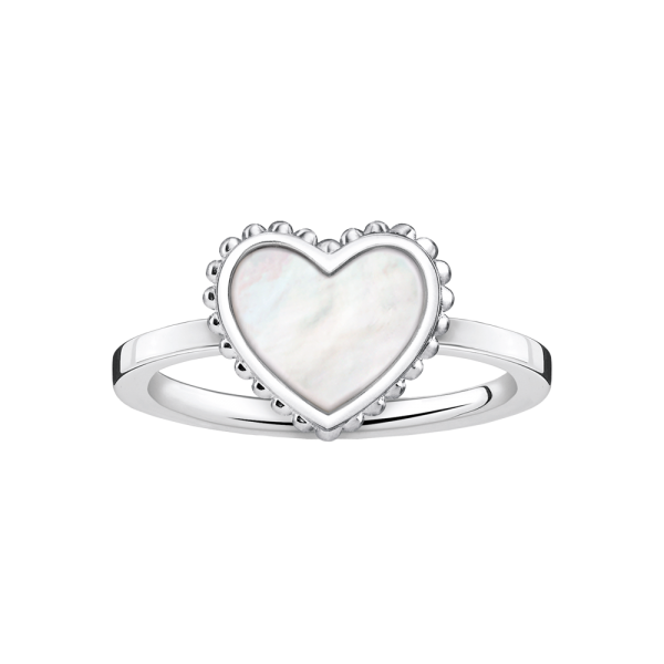 Thomas Sabo Sterling Silver Glam & Soul Ring Herz weiß TR2187-029-14-48