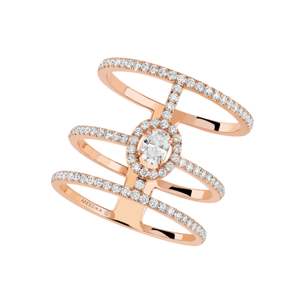Messika Ring Glam'Azone 3 Rows Pavé 4871