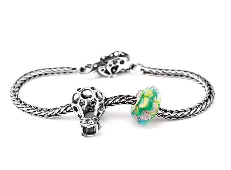 Trollbeads | Armband, Sterling-Silber, Beads, Glas