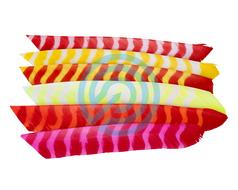 "Trueflight Feathers 4"" Shield Bright Stripes RW"