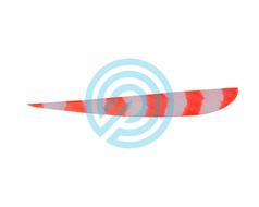 """Trueflight Feathers 4"""" Parabolic Bright Stripes RW"""