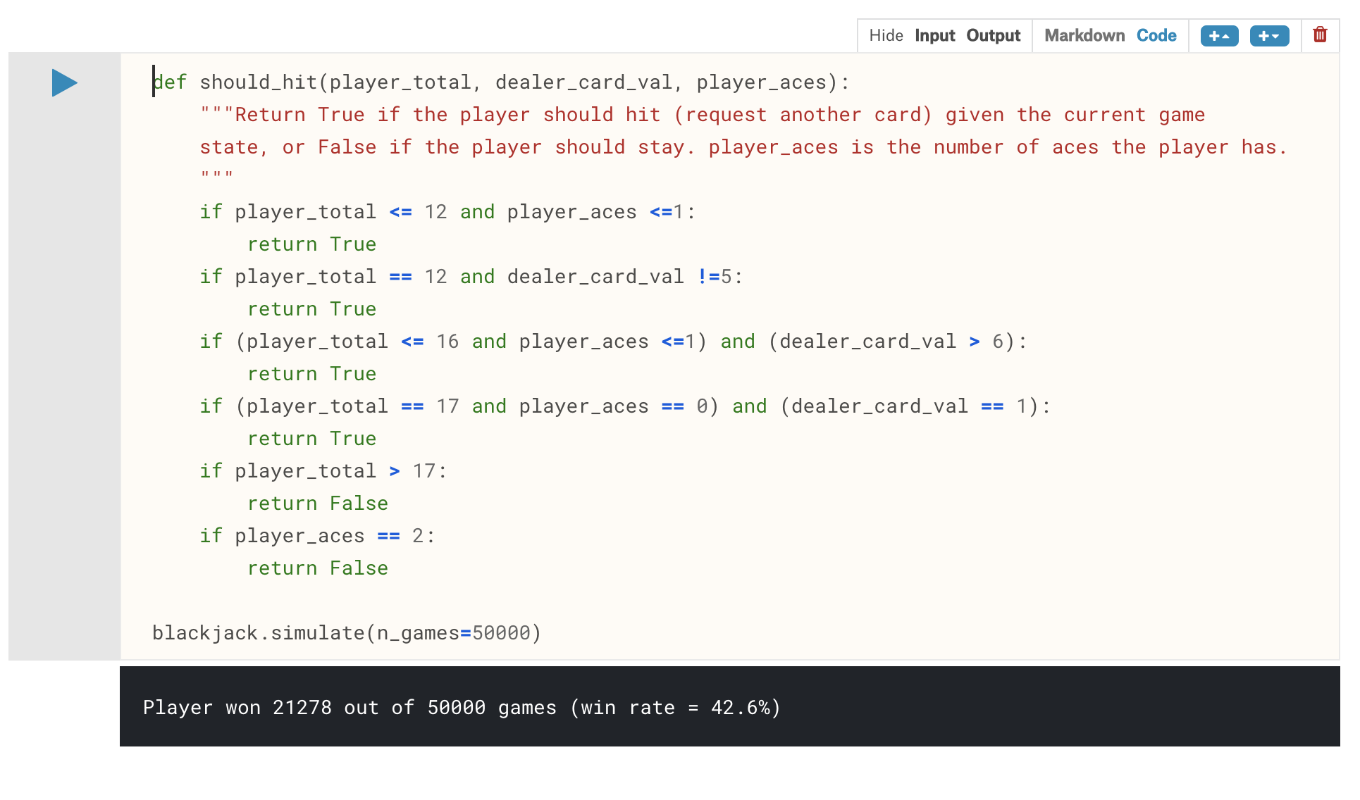 The Blackjack Problem | Kaggle