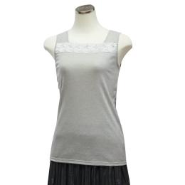 サイズ: M・L・LL カラー:ブラック・グレー 素材:綿64%、ポリエステル36%、 レース部分:ナイロン、ポリエステル、ポリウレタン