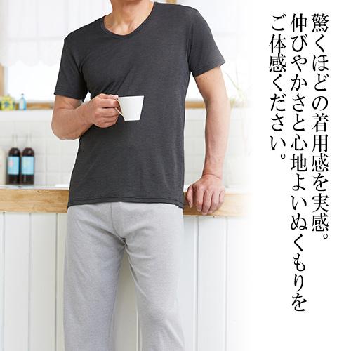 汗をかいてもベタついたり蒸れたりせず、快適なボーダーシャツです。 ◇ボーダー生地