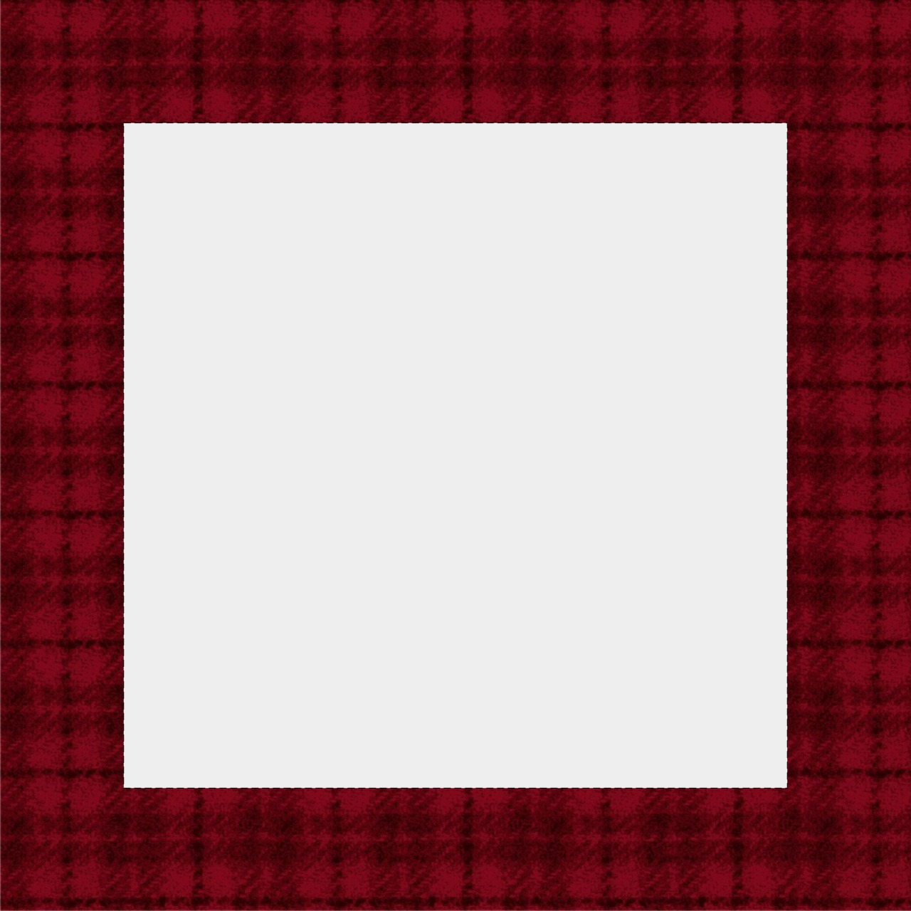 Instagram Border Template: Red Plaid