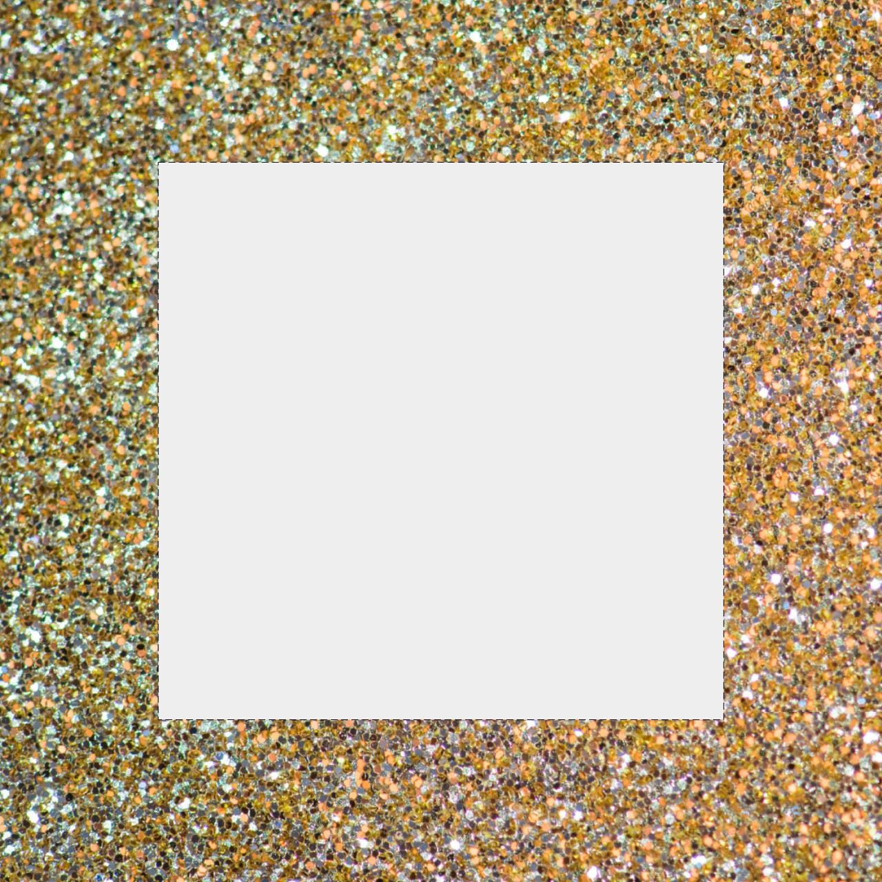 Instagram Border Template: Gold and Silver Glitter