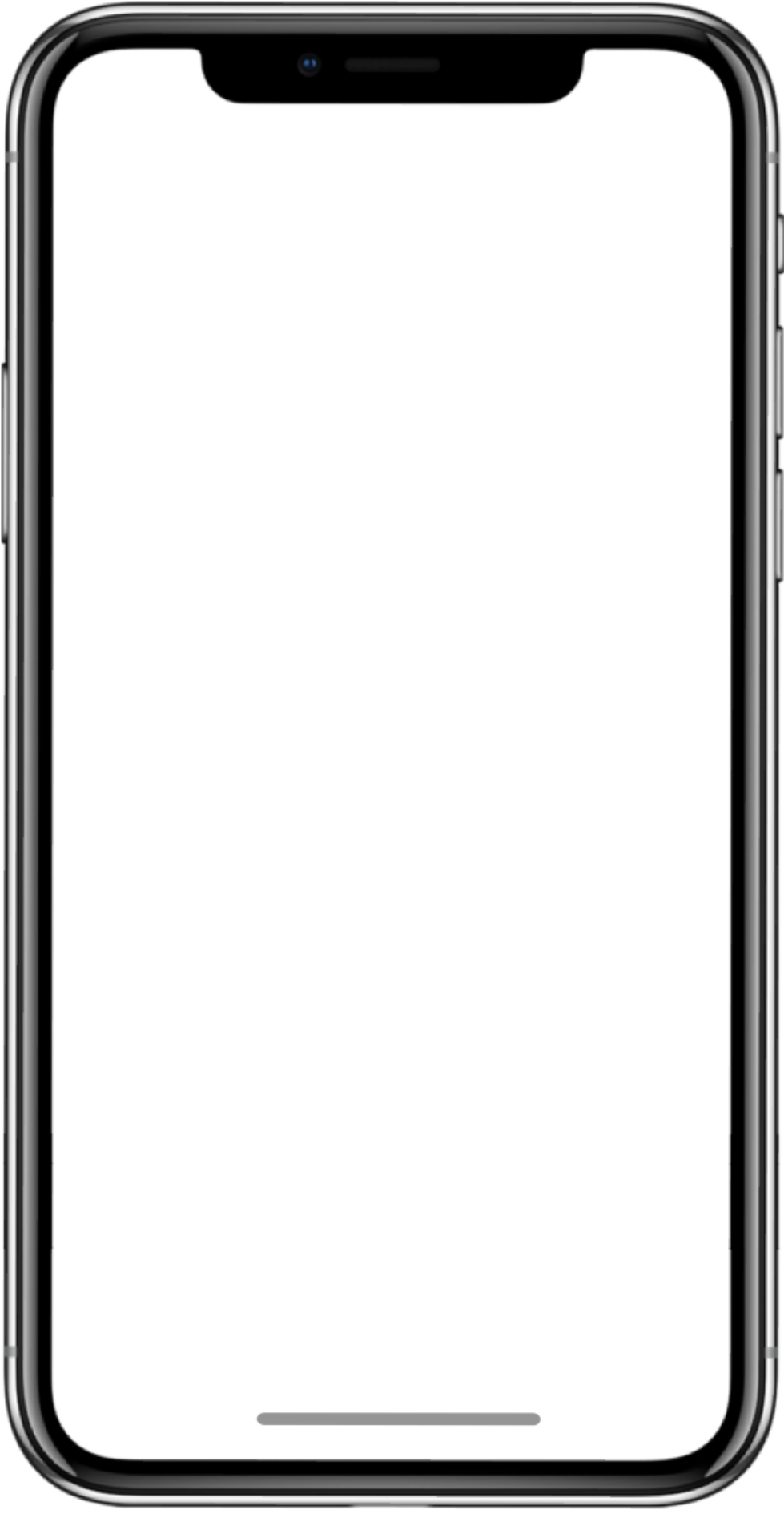 Blank iPhone X and 11 Frame Mockup Template