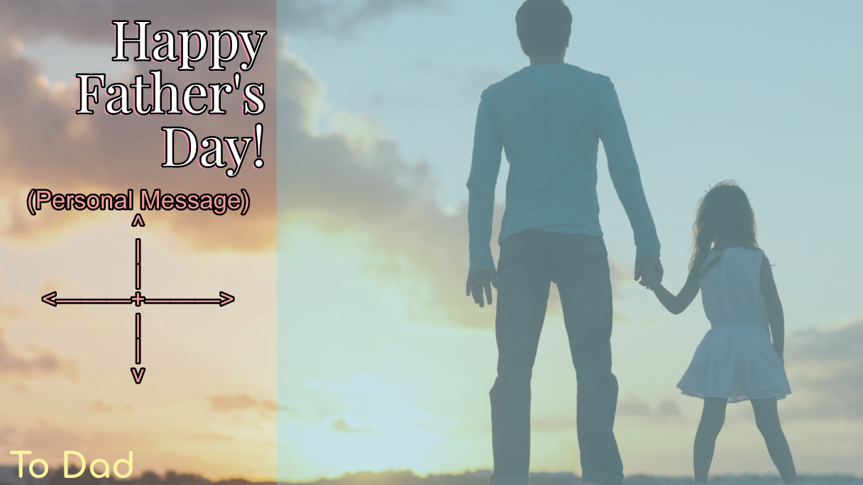 Father's Day Ecard Template – 2-Tone Photo