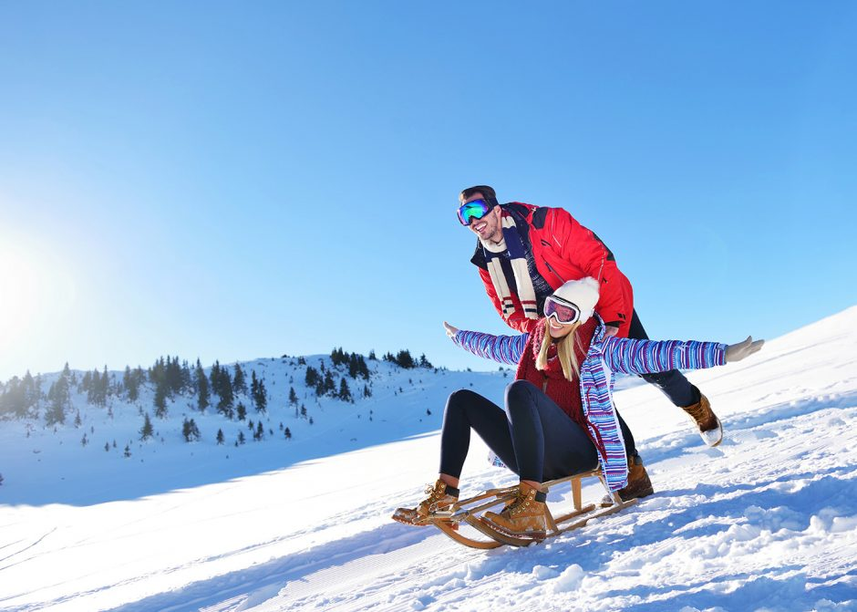 Taking The Quick Way Down The Bavarian Mountains: Tobogganing