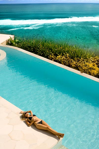 relaxing the fantastic infinity pool of luxury Karma Kandara Hotel, Gallery