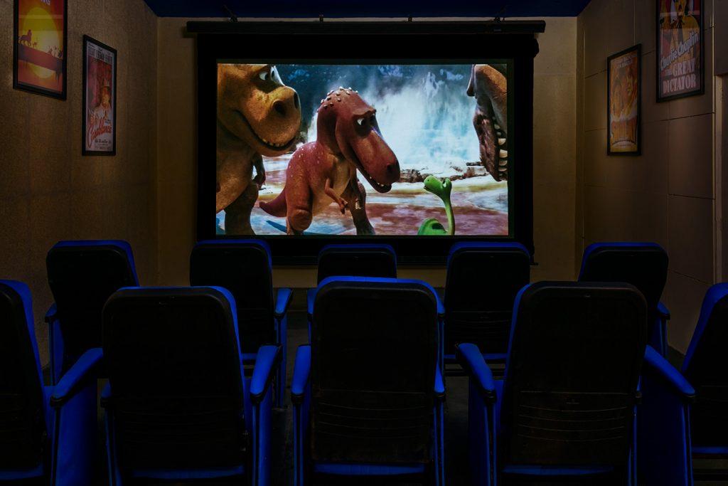 cinema area, karma royal haathi mahal, goa, india