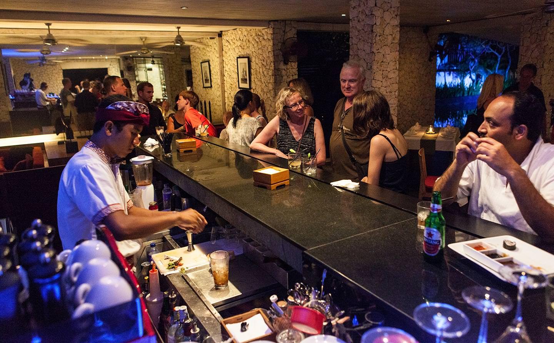 elegant bar and restaurant of Luxury Jimbaran Bay Resort