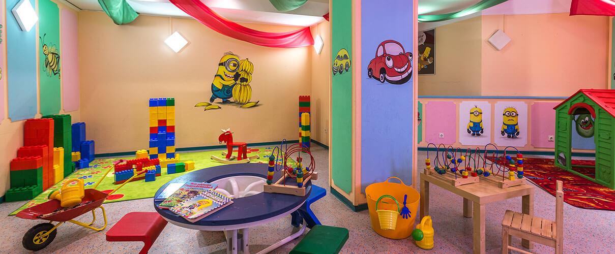 joyful playground in luxury hotel karma bavaria, three monkeys kids club