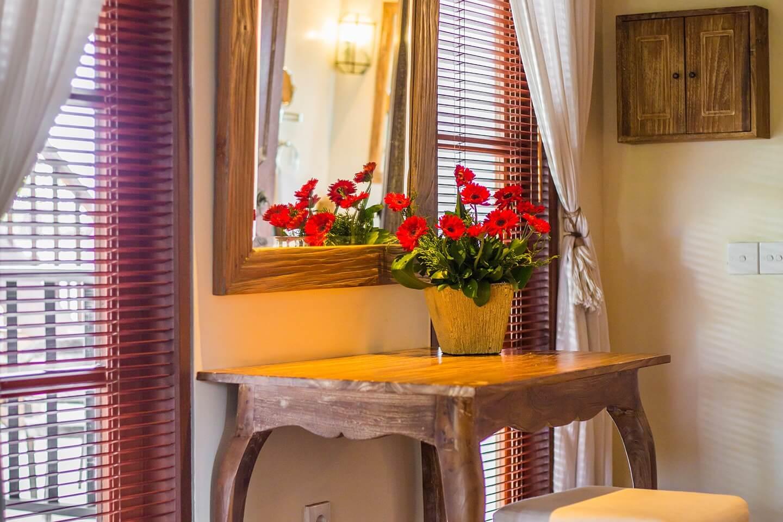 elegant interior desaign and beautiful room of Luxury Resort in Jimbaran