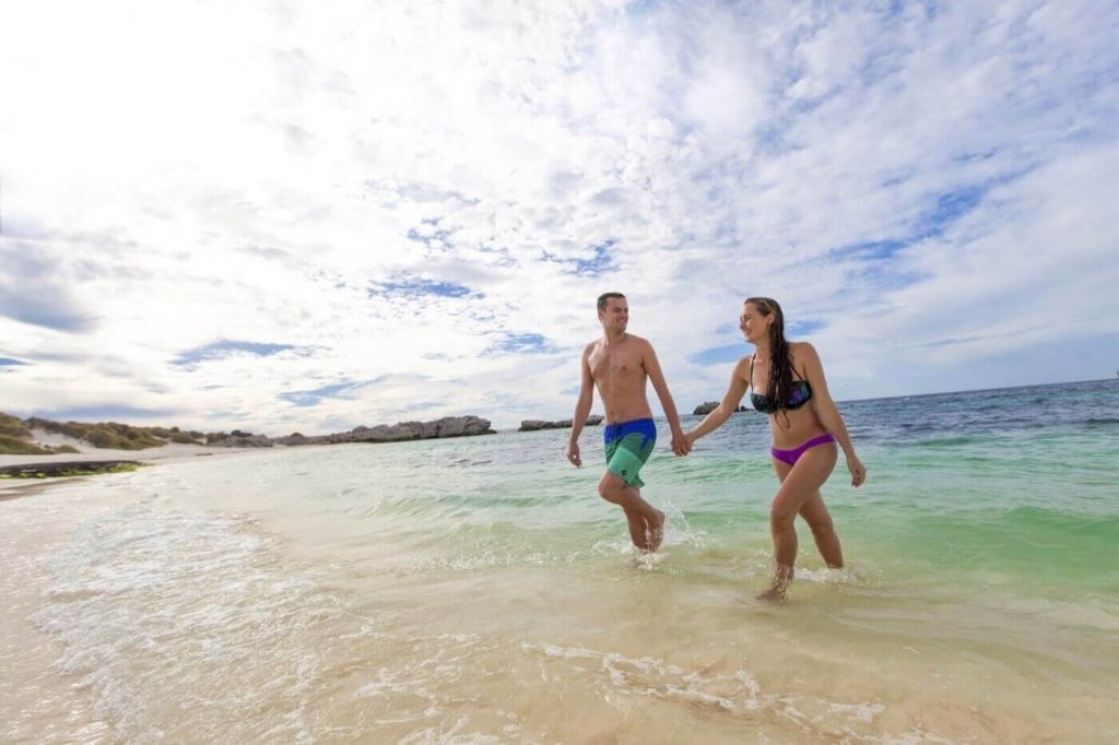 romantic beach and shore. the Rottnest Luxury Accommodation