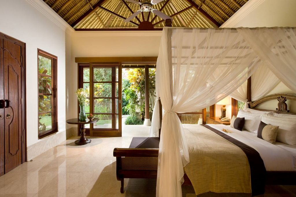 luxury bedroom and elegant living at Luxury resort Jimbaran Bay
