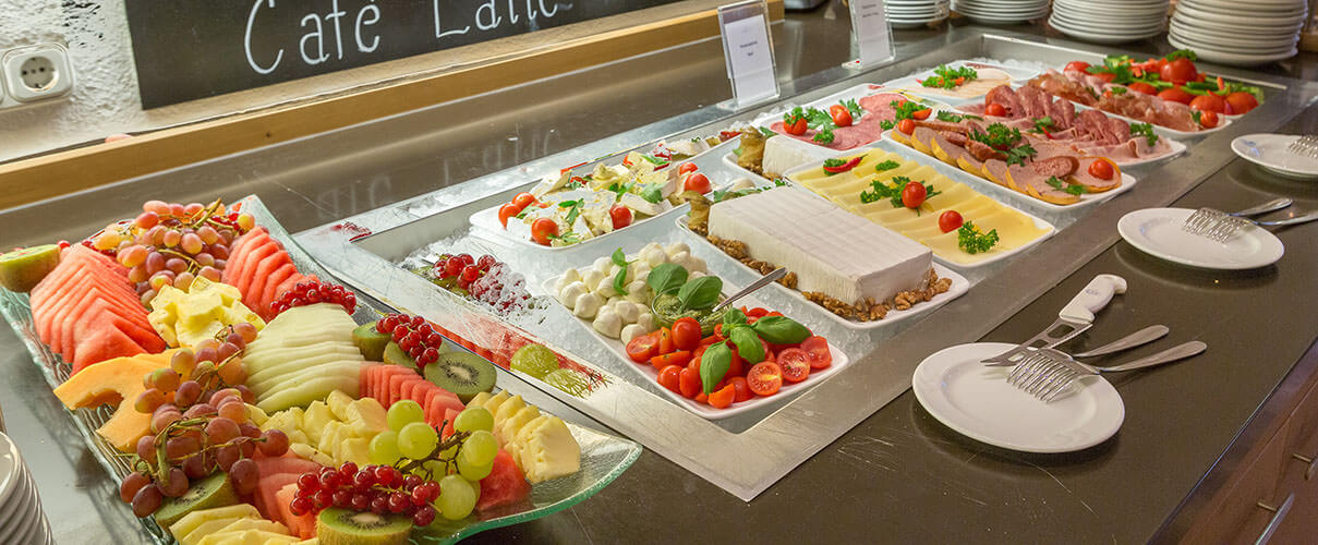 fresh fruit salad at karmasee restaurant, Luxury Hotel in Bavaria