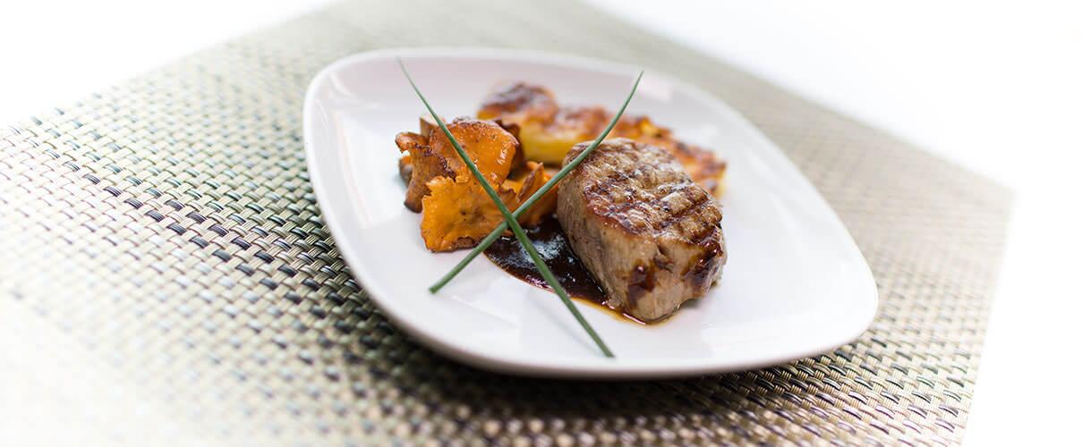 bavaria fantastic fish grill cuisine in luxury restaurant of bavaria