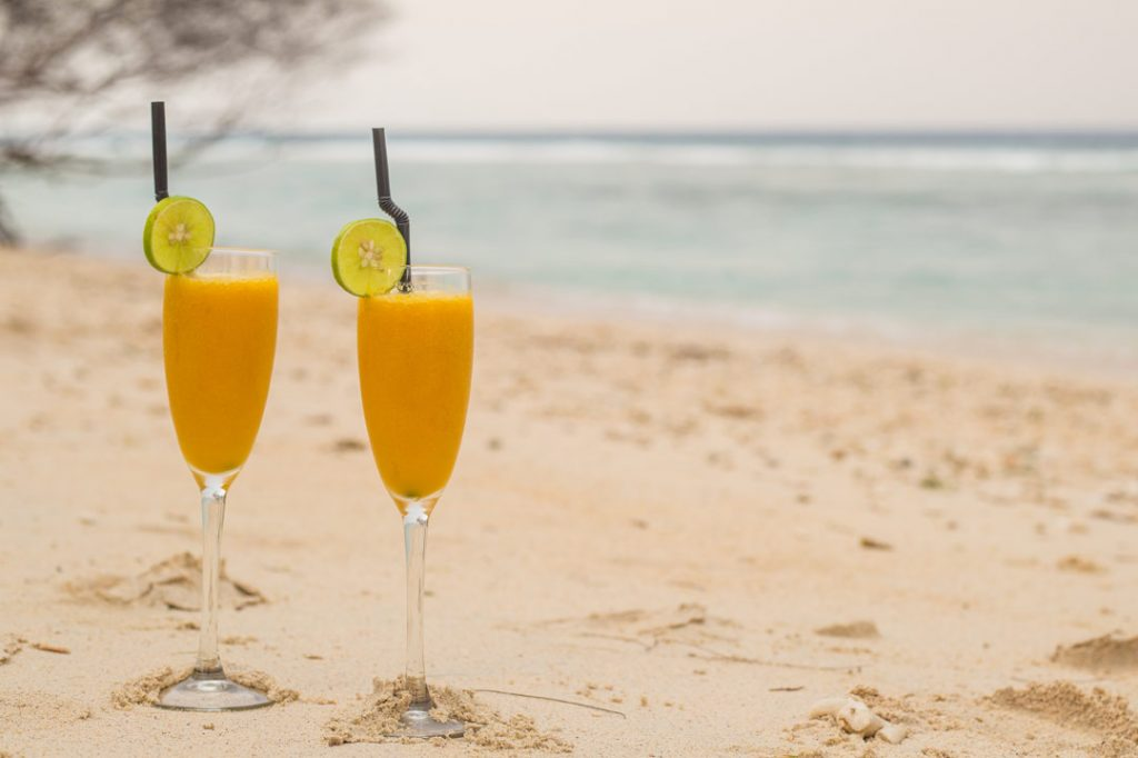 relaxing experience of karma beach fresh Welcome Drink