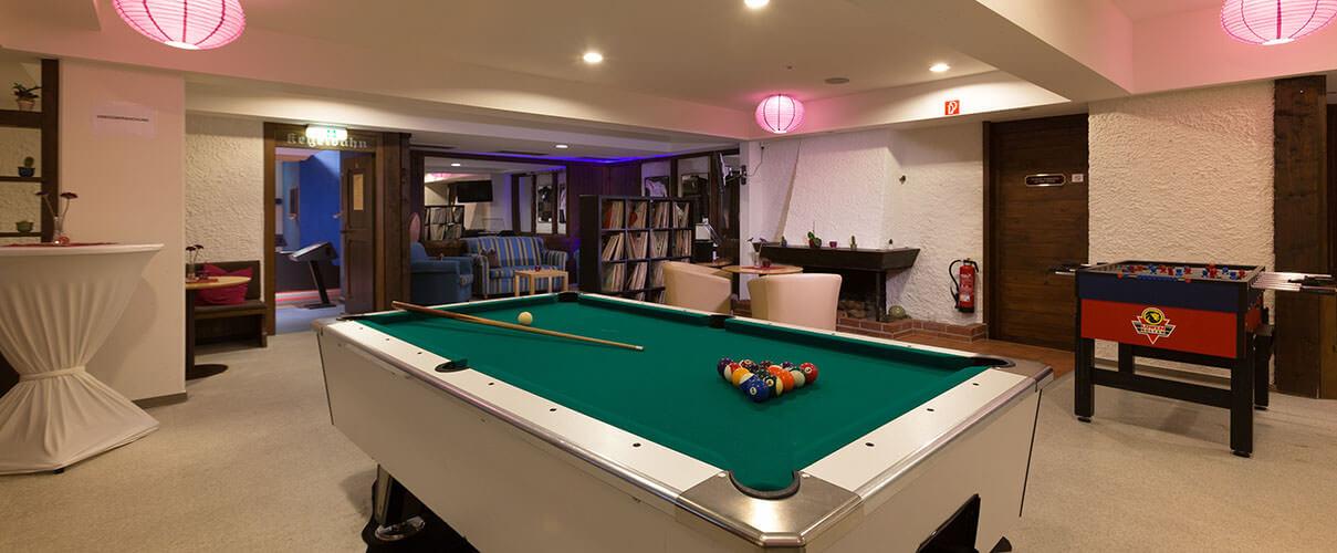 billiard and play room of luxury Best Hotel in Bavaria