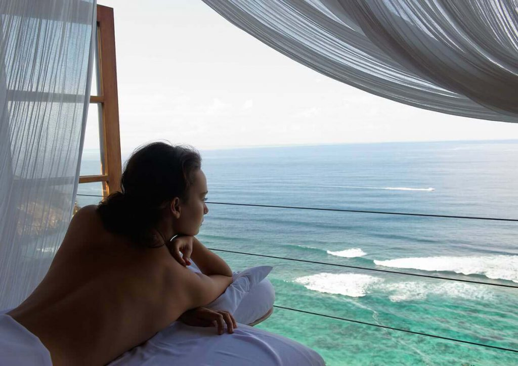 relax and enjoy of professional karma spa and treatment with ocean view