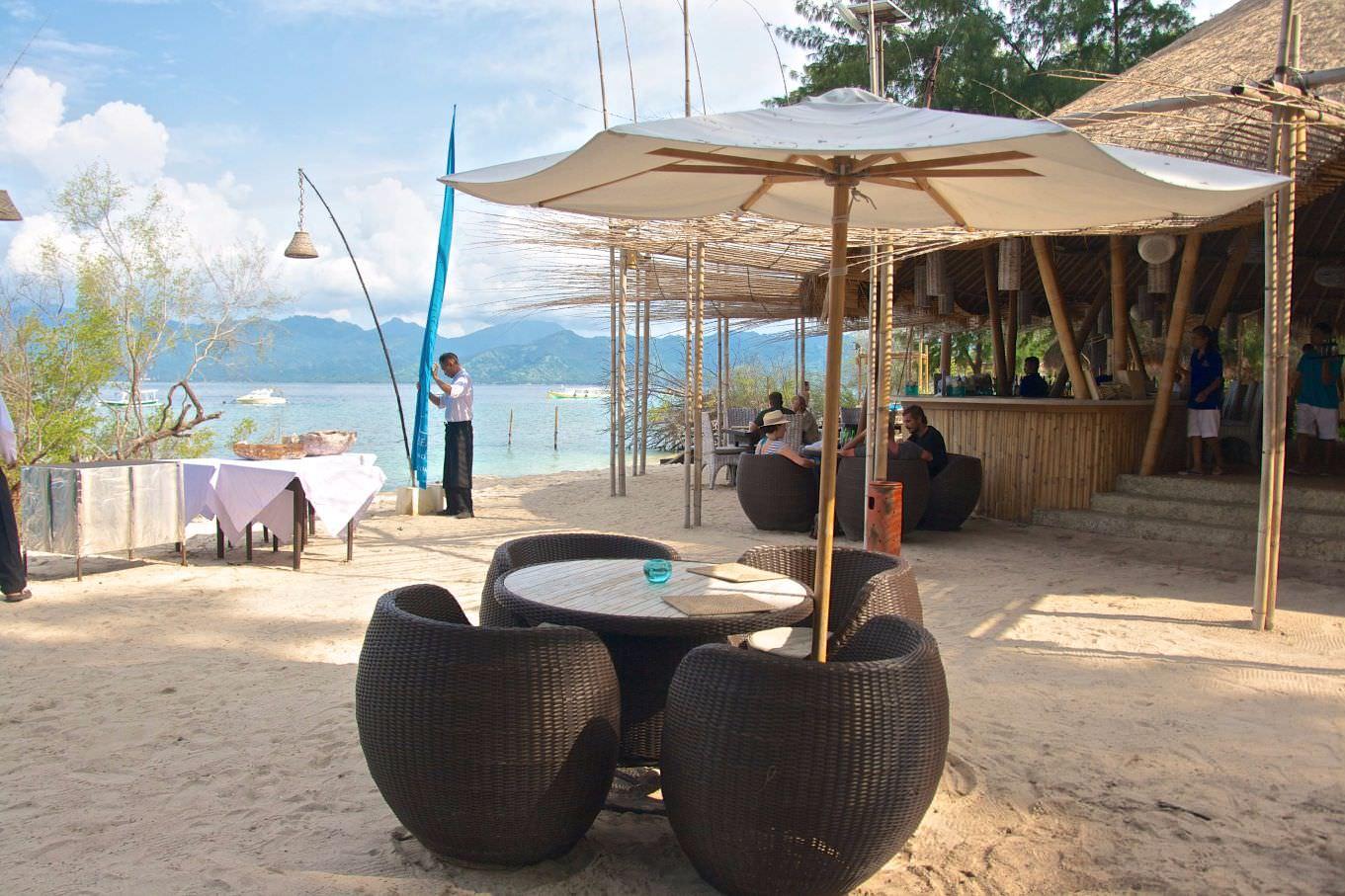 morning cozy restaurant of luxury resort of karma reef