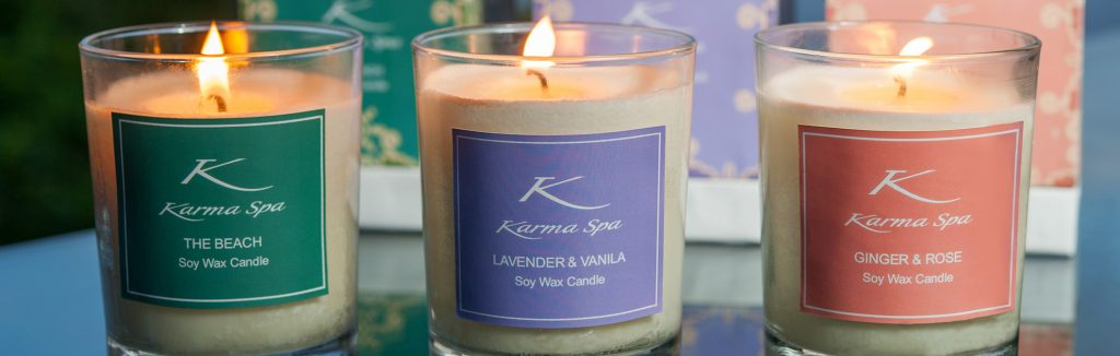 aroma therapy of karma spa candle