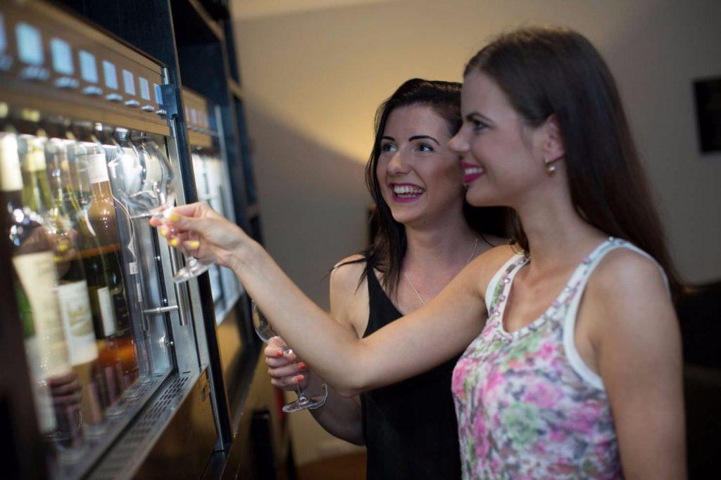 Wine machine at Karma St. Martin's