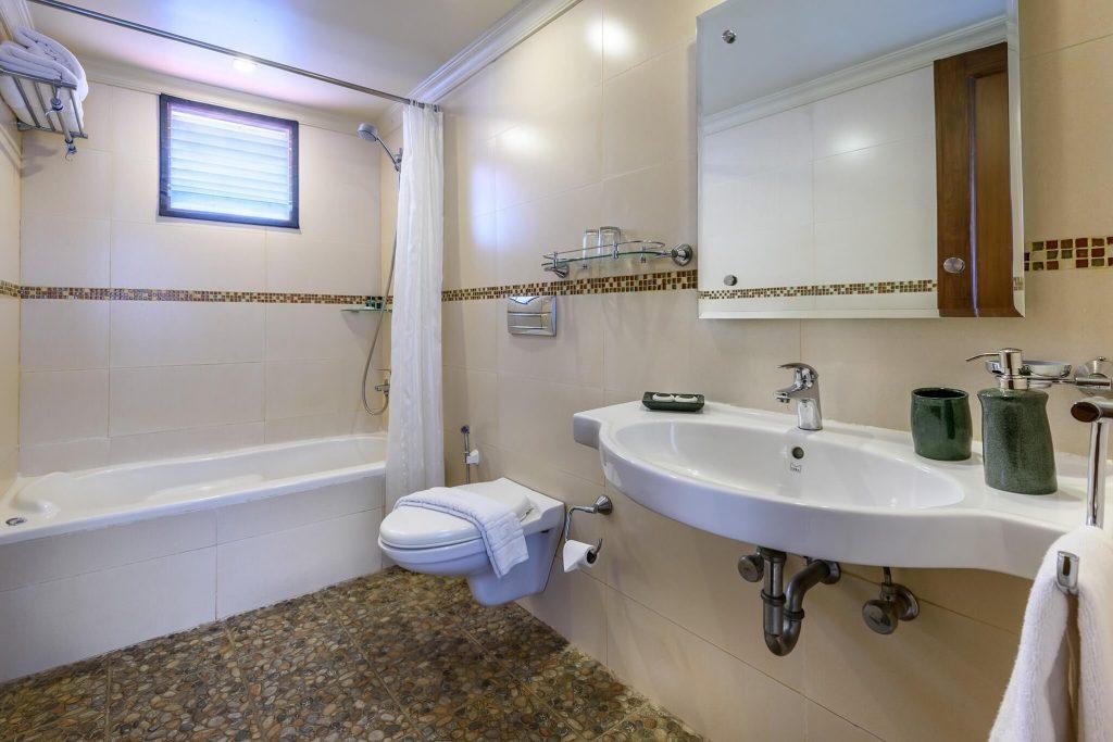 elegant bathroom interior of luxury hotel Karma Royal Monterio