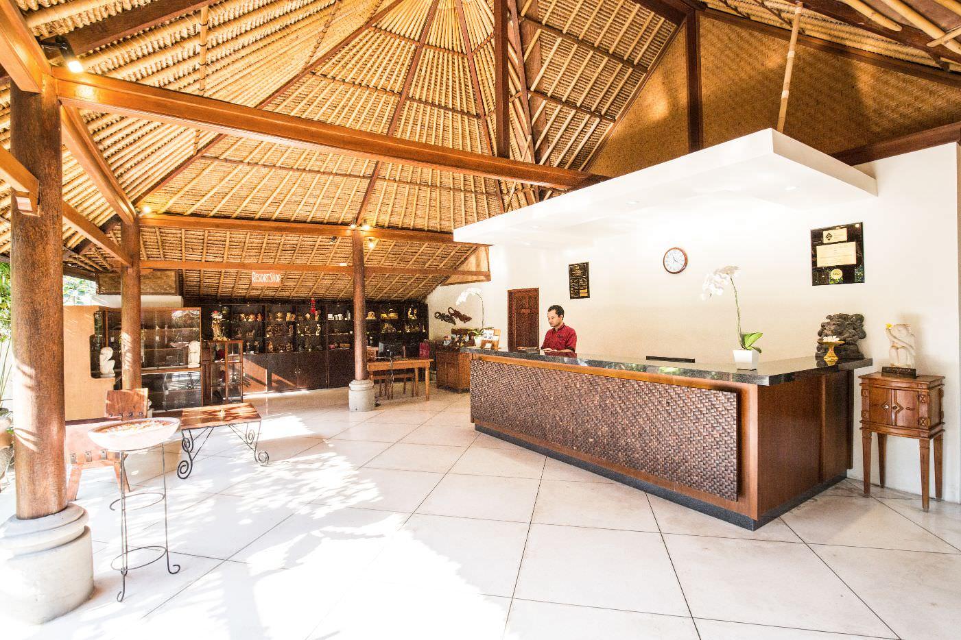 luxury hotel of Karma Royal Candidasa Reception Area