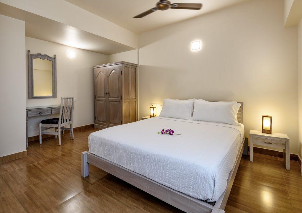 white vintage interior of luxury hotel Karma Royal Benaulim Rooms and Accommodation